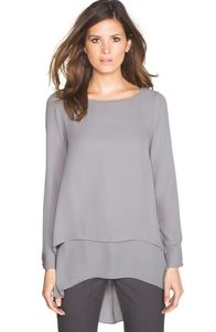 Nwt WHBM Double Lay High Low Tunic Size 8